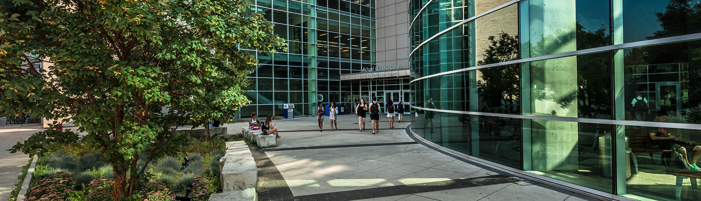The atrium and front entrance of the MDCL building